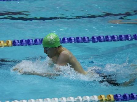 Thomas Leman Swims to a first place